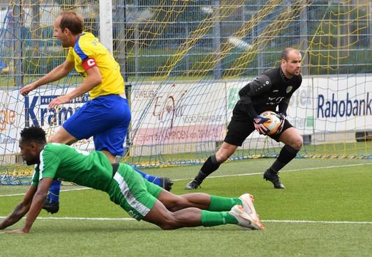 Doelman Dave Stet geniet ondanks tegengoals van zijn laatste wedstrijd voor LSVV