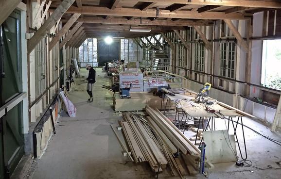 Ateliers in genieloods bij Fort aan den Ham