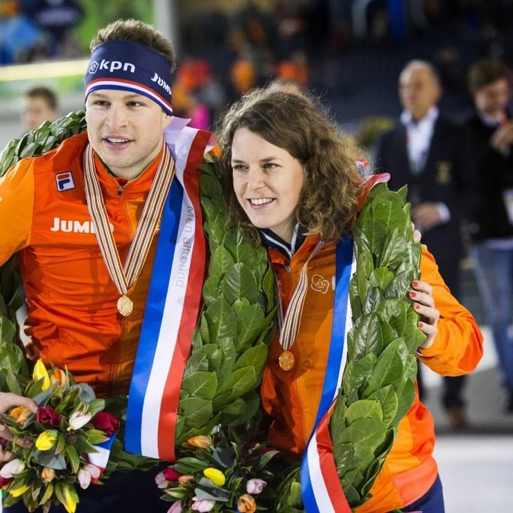 Sven Kramer (l) en Ireen Wüst © ANP