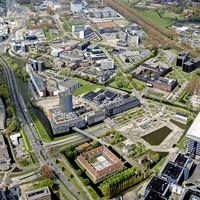 Luchtfoto van het Bio Science Park.