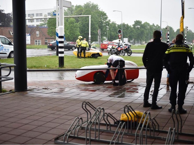 Ligfietser gewond bij aanrijding in Hoorn