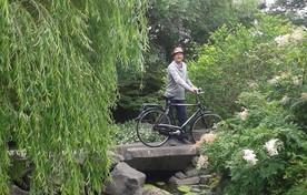 Pieter Blank met zijn fiets.