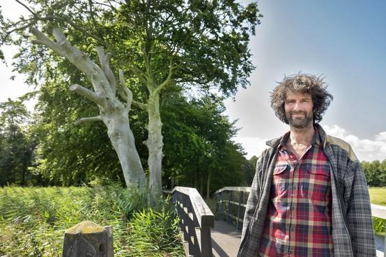 'Bomen vragen offers': Mark Helsloot brengt groot deel van de dag in een boom door