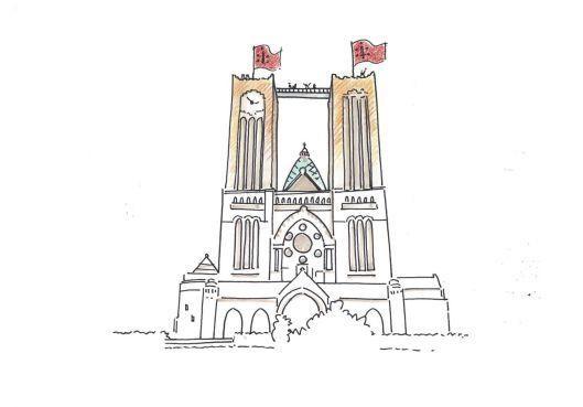 Haarlemse Bavokerk krijgt woensdag loopbrug tussen torens op zestig meter hoogte
