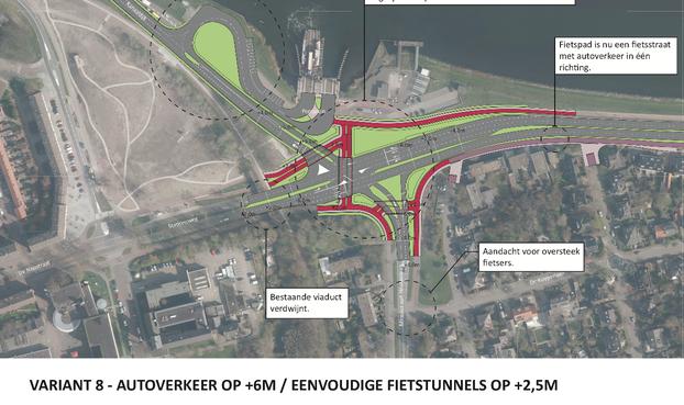 'Tunnels voor fietsers bij opknappen Pontplein Velsen-Zuid'