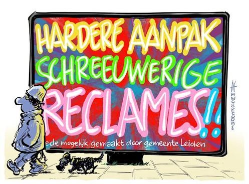 Cartoon: Schreeuwerige reclames