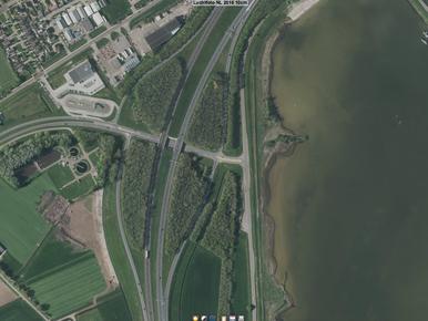 Protest tegen bomenkap langs A7/Afsluitdijk bij Den Oever