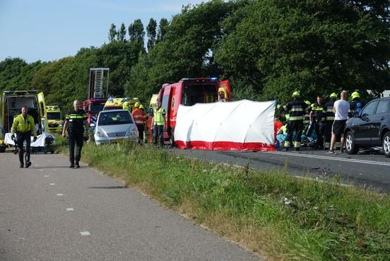 Auto dodelijk ongeluk N203 Castricum van uitzendorganisatie