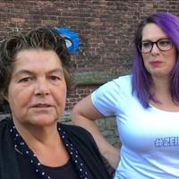 Zeikwijf Helena Sluik (links) en medestander.