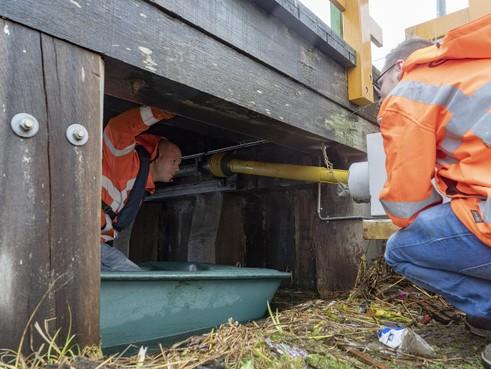Nieuwe vlotten voor Koedijker vlotbrug in Alkmaar