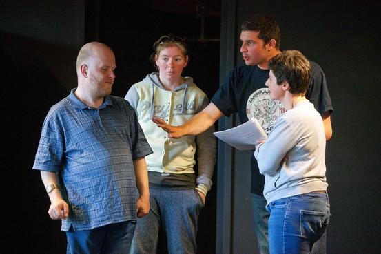 Haarlemse acteurs met beperking van Theater Klapstuk hebben veel lol bij het maken van 'Abeltje'