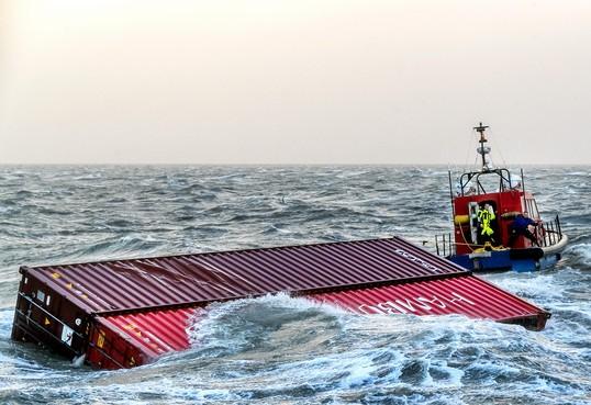 Defect aan zwarte doos van containerschip MSC Zoe